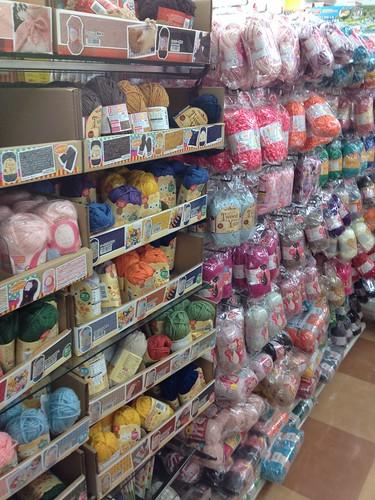 Yarn Aisle Inside Daiso