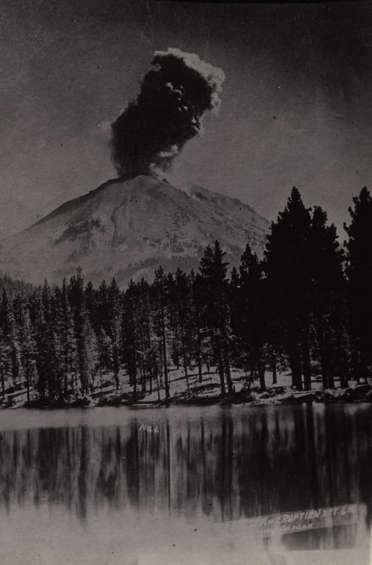 Lassen Peak Eruption over Reflection Lake