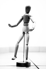 robot, monochrome photography, figurine, illustration, mannequin,