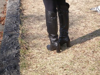 high heel over knee boots