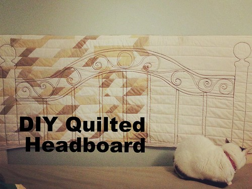 Make your own DIY Quilted Wrought Iron Headboard by Waterpenny.net