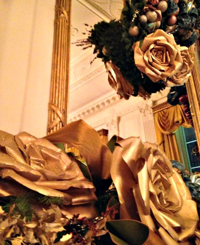giant paper flowers at the White House