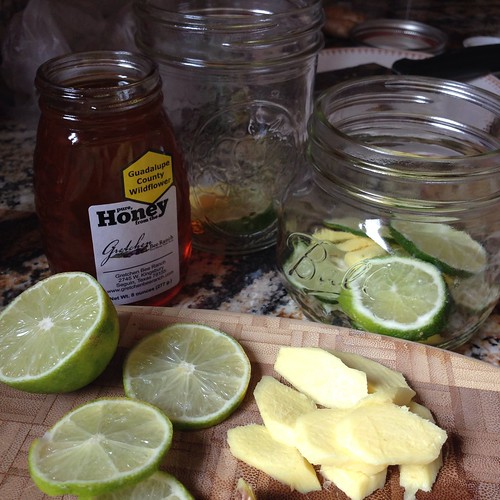 Ingredients for a Honey Lime Syrup