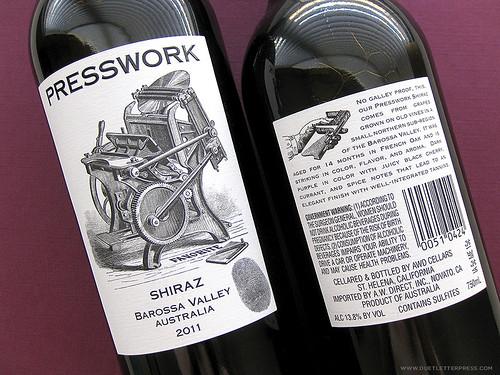letterpress wine