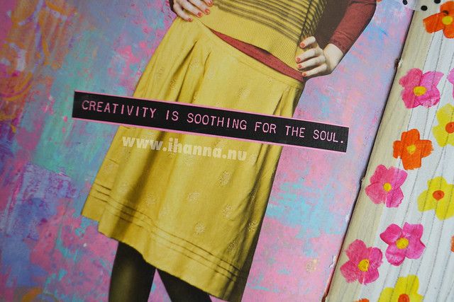 Art Journal Detail: Creativity is soothing for the soul