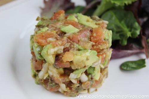 Tartar de salmon y aguacate www.cocinandoentreolivos (2)