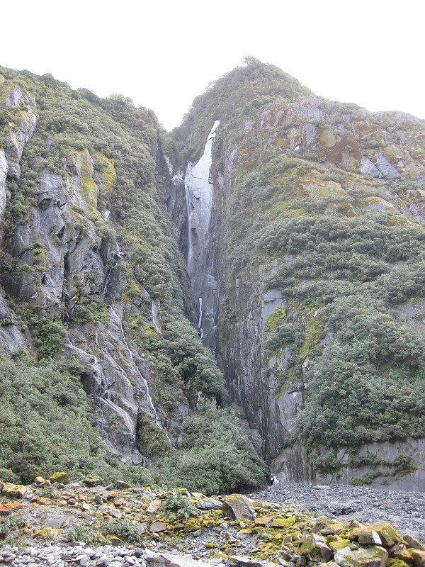 A waterfall near Franz Josef Glacier - New Zealand