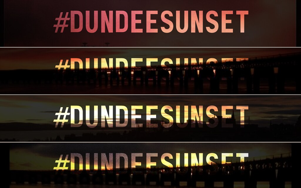 Dundee Sunset headers with different background sunsets