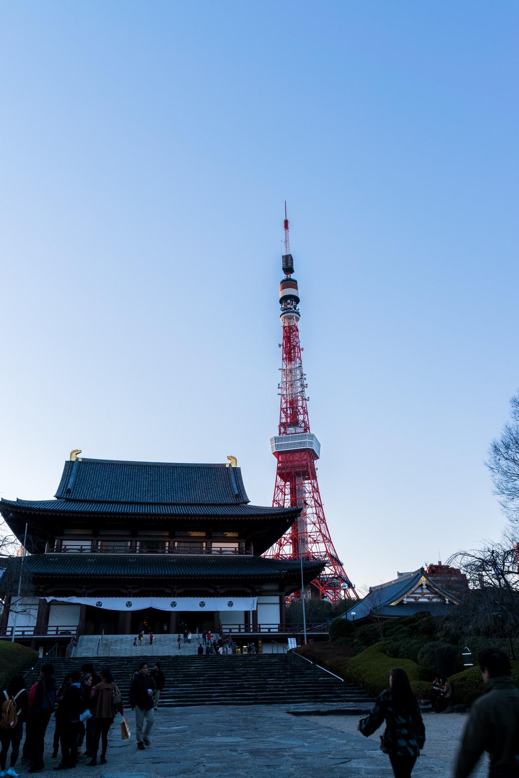 2014/01/19 増上寺 東京タワー