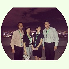 We're in the top of the world #photogrid #40th #floor #rooftop #views #lights #photooftheday #igers #building #cw1j #ciputraworld #jakarta #indonesia #tallest #night #instagram #instagallery #instahub #iphonesia #like4likes