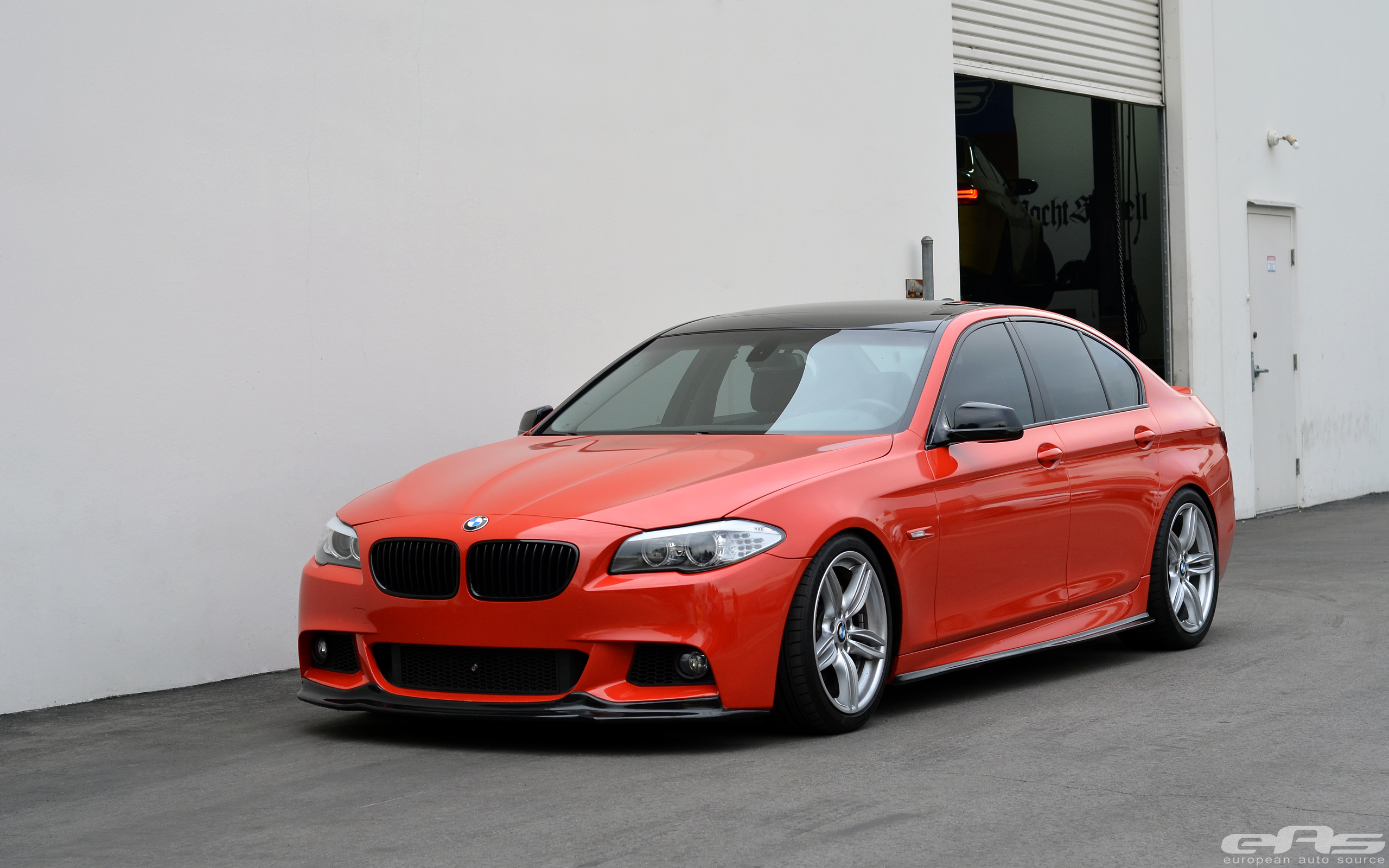 Red Vinyl Wrapped F10 535i M Sport Bmw Performance Parts