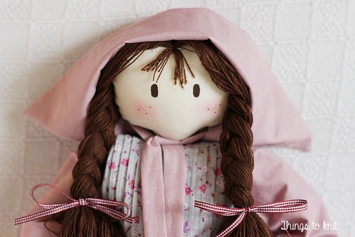 muñeca de patchwork - fabric doll