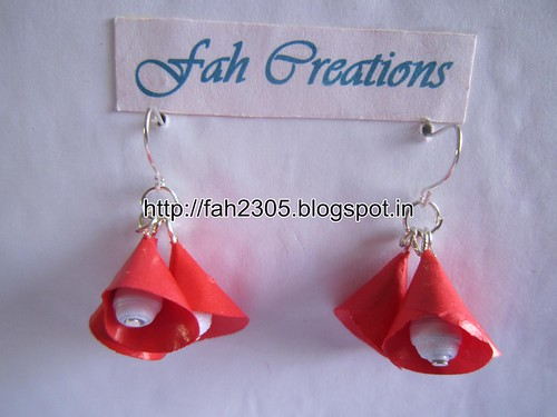 Handmade Jewelry - Paper Cone Bell Earrings (1) by fah2305