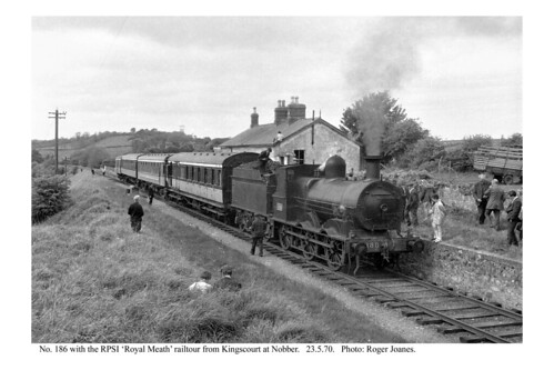 Nobber. 186 & railtour from Kingscourt. 23.5.70