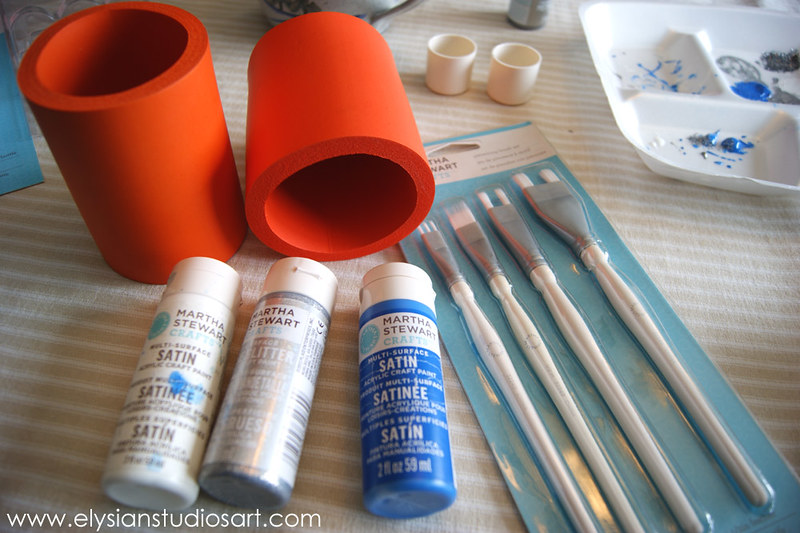 Using Martha Stewart Multi Tip Brush Set 1