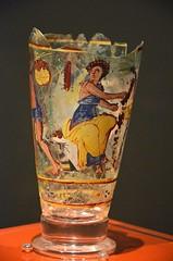 Painted Goblet Depicting Figures Harvesting Dates.