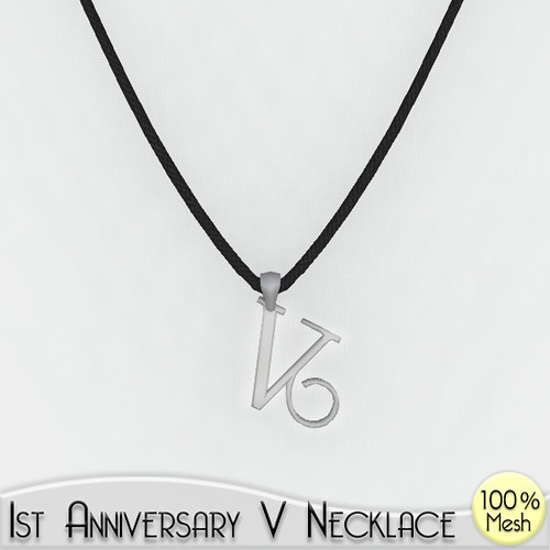 v necklace ad