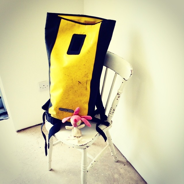 Bag on a chair