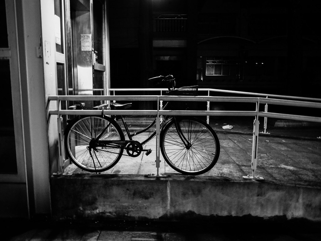 深夜的腳踏車
