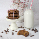 Gluten free double choc chip cookies