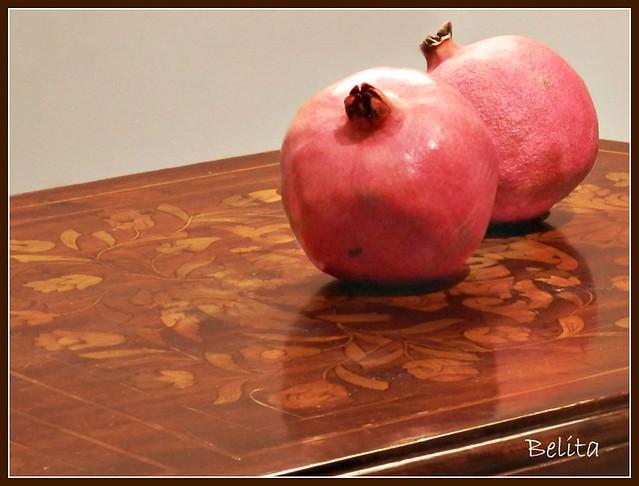 A pair of pomegranates