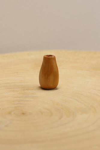 tiny wood vase