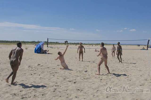 naturist volleyball 0000 Sandy Hook, NJ, USA
