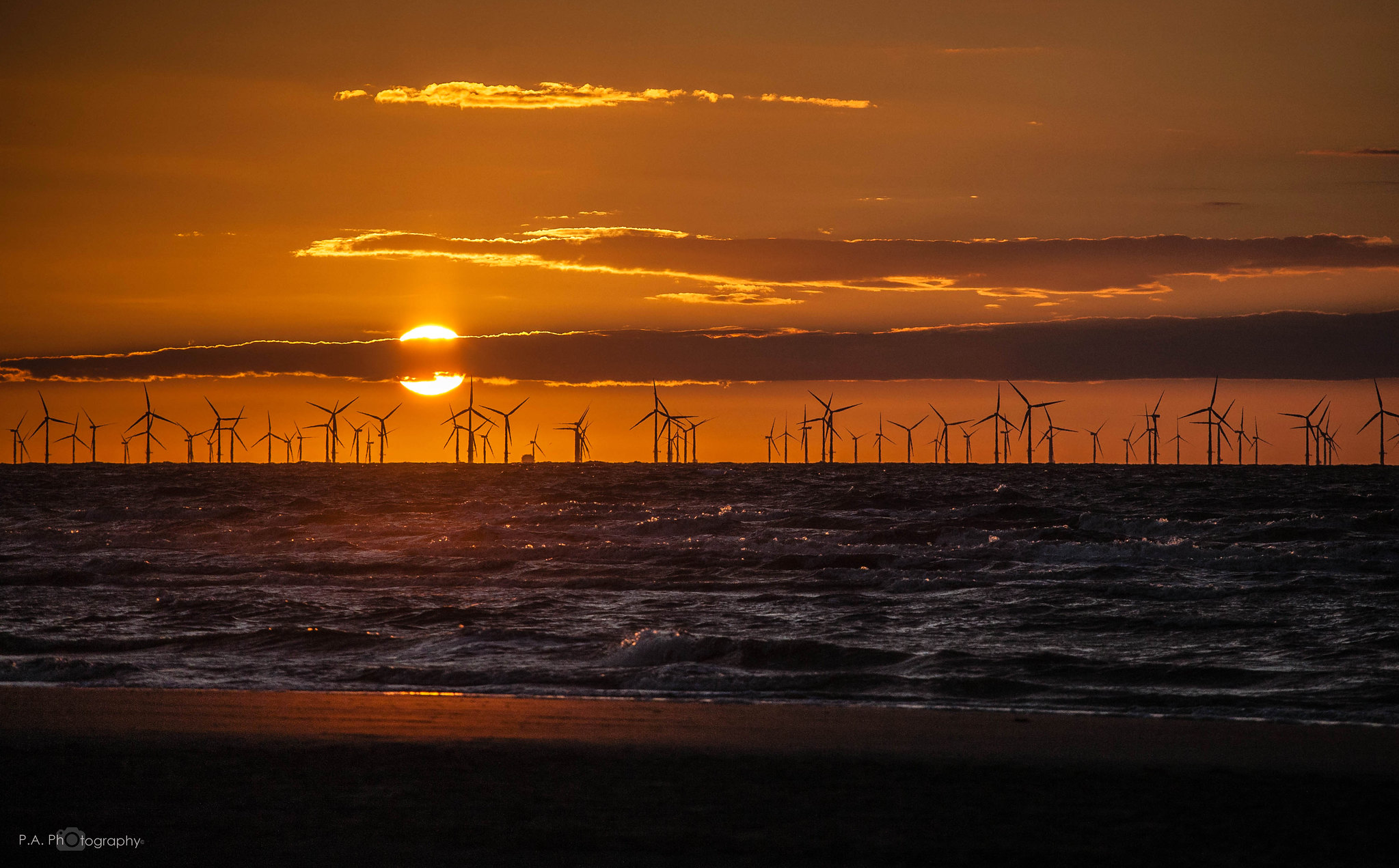 WINDFARM SUNSET