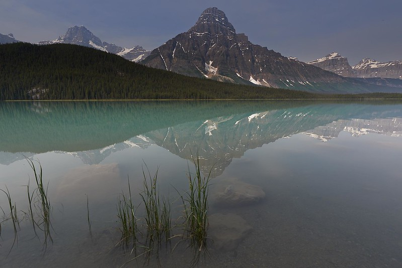Reflections in Waterfowl Lake - Banff National Park