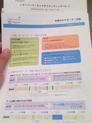 横浜トリエンナーレのサポーターキックオフミーティングVol.2資料