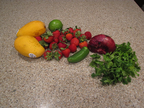 Strawberry Mango Salsa Ingredients
