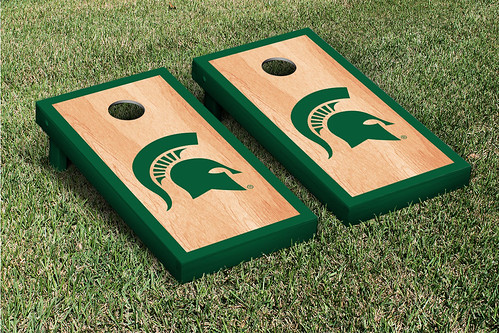 Michigan State Spartans Cornhole Game Set Hardcourt