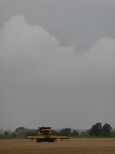 Storm begins to hit