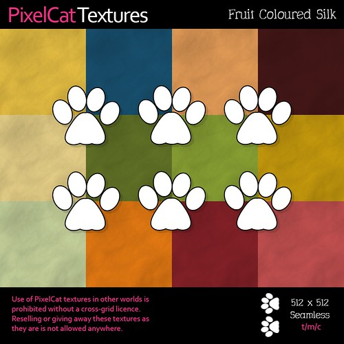 PixelCat Textures - Fruit Coloured Silk