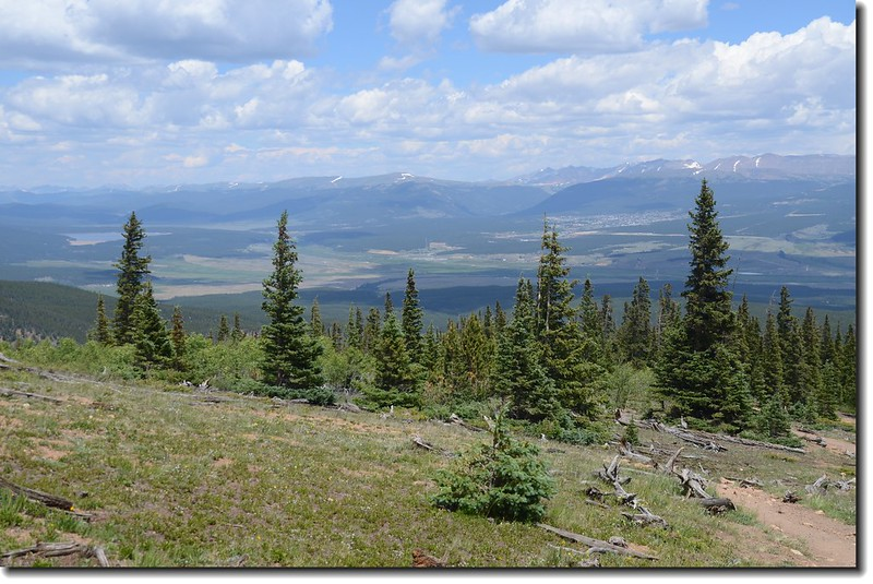 Looking down at Leadville from the trail