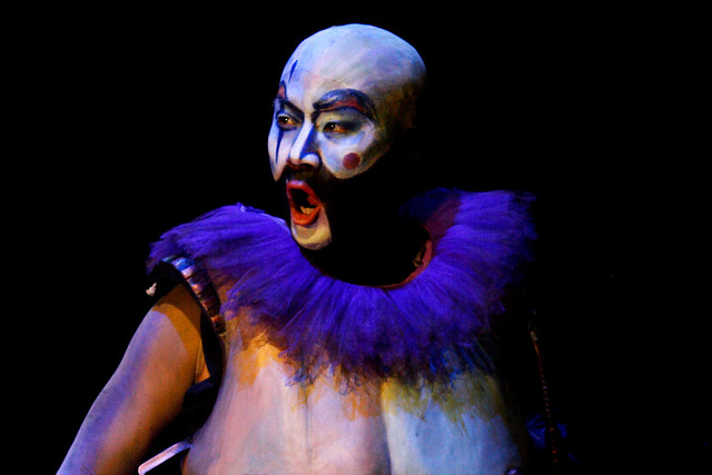 Jihoon Kim as the Ogre in El gato con botas © ROH / Catherine Ashmore 2013