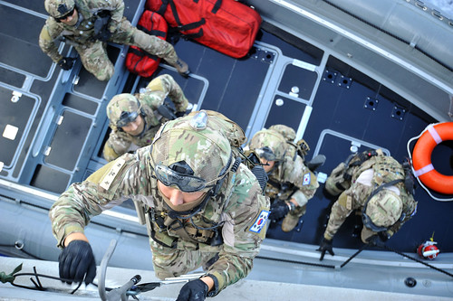 PACIFIC OCEAN - Special operations forces from the U.S., Republic of Korea and Peru conducted a covert training mission aboard the littoral combat ship USS Independence (LCS 2) as part of Rim of the Pacific (RIMPAC) Exercise 2014.
