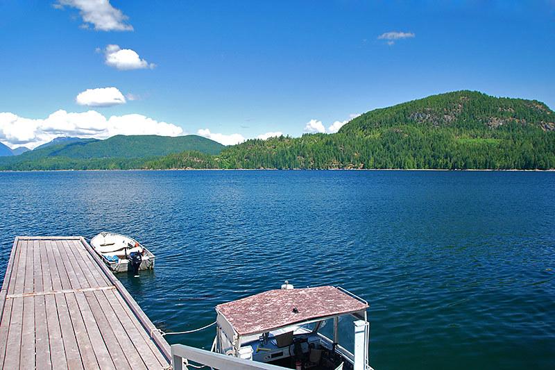 Read Island Provincial Park, Quadra Island, British Columbia, viewed from Hoskyn Channel