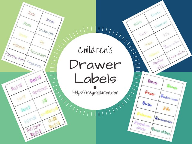 Children's Drawer Labels {Free Printables}