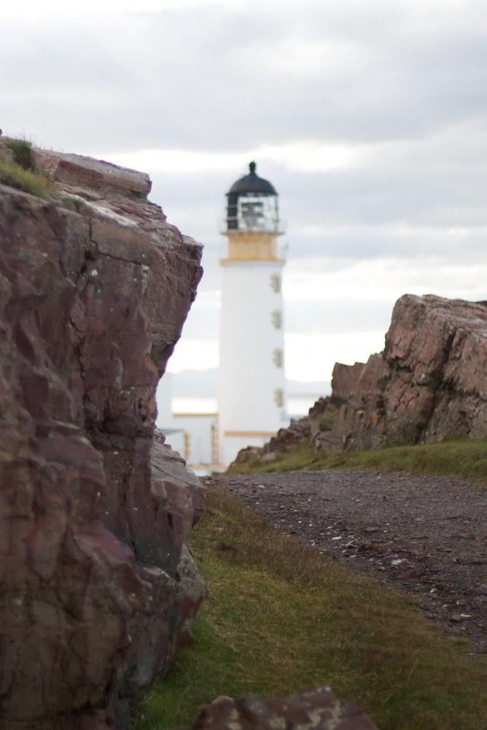rua reidh lighthouse map - scotland