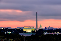 Twilight Dawn Over Washington
