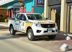 Bonaire, Sheriff Security Force Caribbean Nissan Frontier Pick Up Truck BON 03