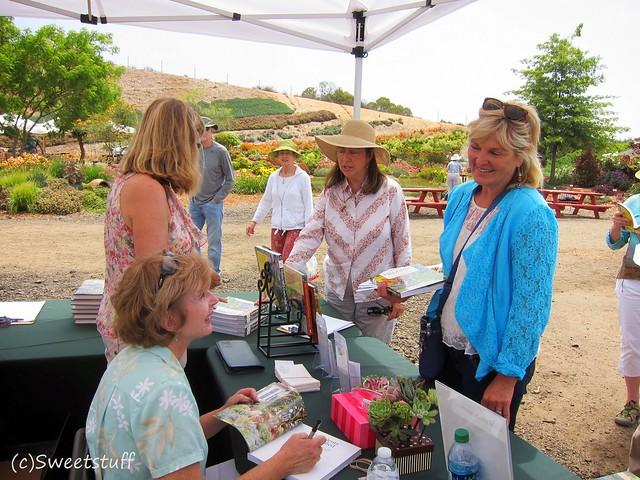 Debra signing books