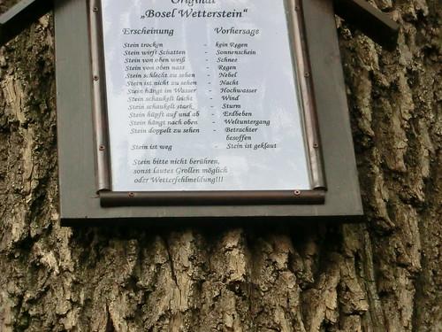 Der Bosel Wetterstein auf der Boselspitze bei Meissen mit dem  botanischen Garten des Landesvereins sächsischer Heimatschutz  1392