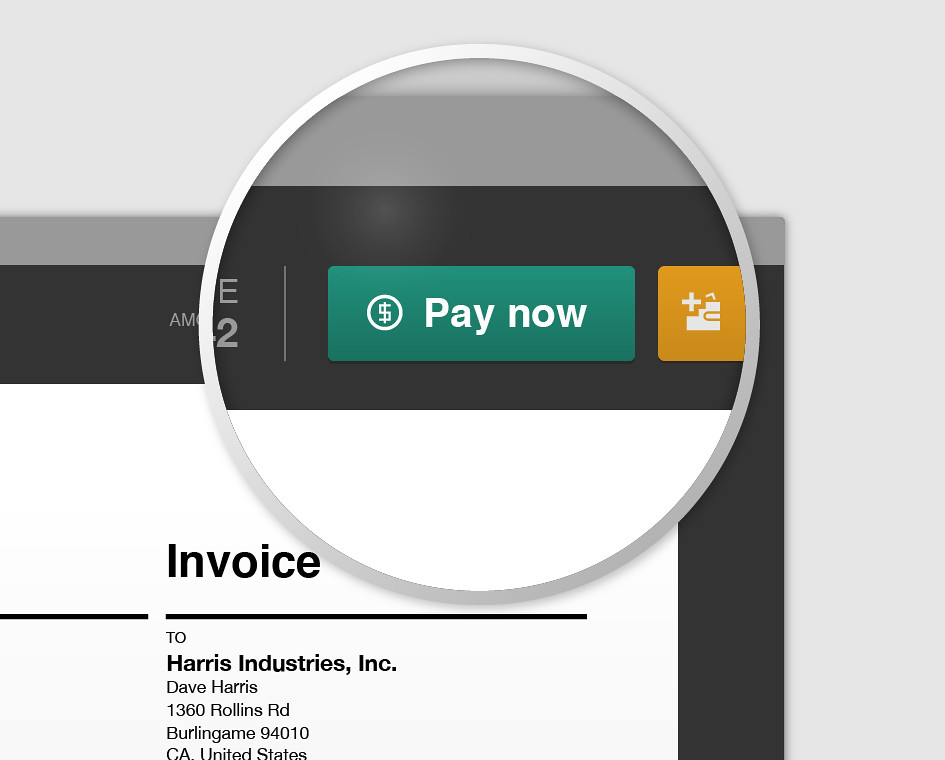 Invoice payment button