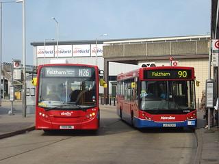 Abellio 8124 (H26), Metroline Travel MM785 (90), Hatton Cross