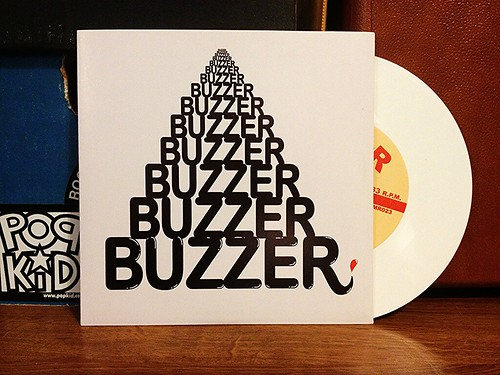 "Buzzer - Disco Kiddz 7"" - White Vinyl (/100) by Tim PopKid"