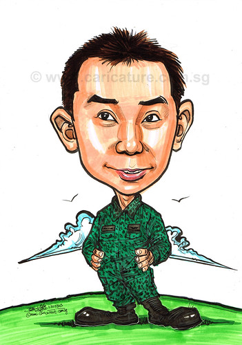 caricature for Singapore Airforce