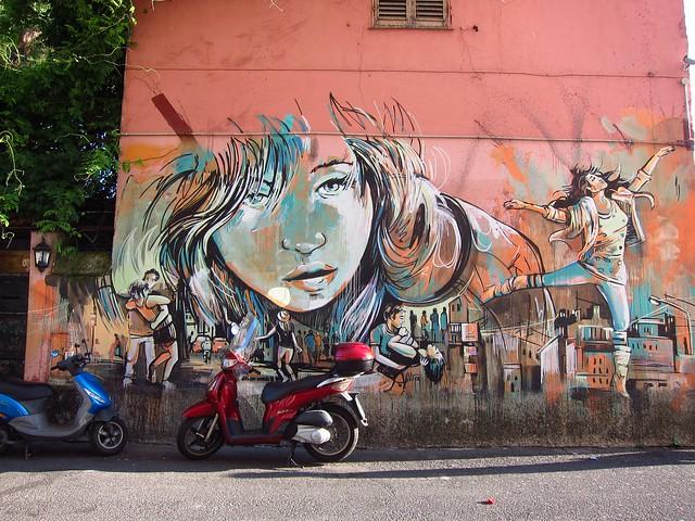 Mural Outside Circolo Degli Artisti