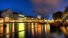 Zürich: Limmat und Grossmünster